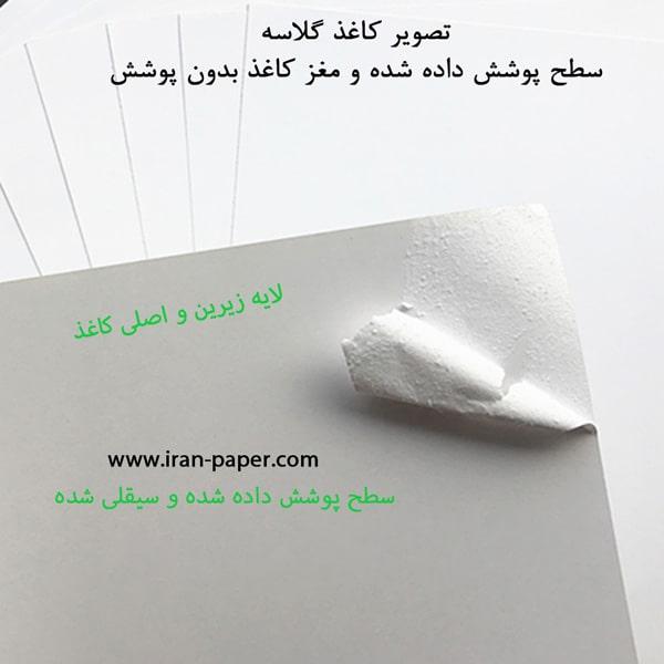 تصویر لایههای کاغذ گلاسه